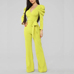 Ride the Wave Jumpsuit Lime