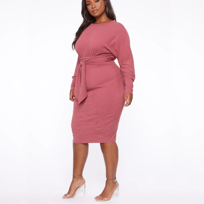 Everyday Sweater Dress Mauve