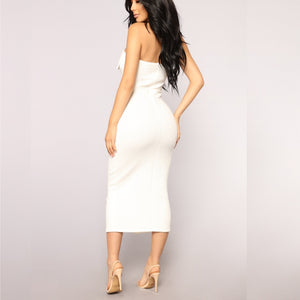 Keep It Simple Tube Dress White