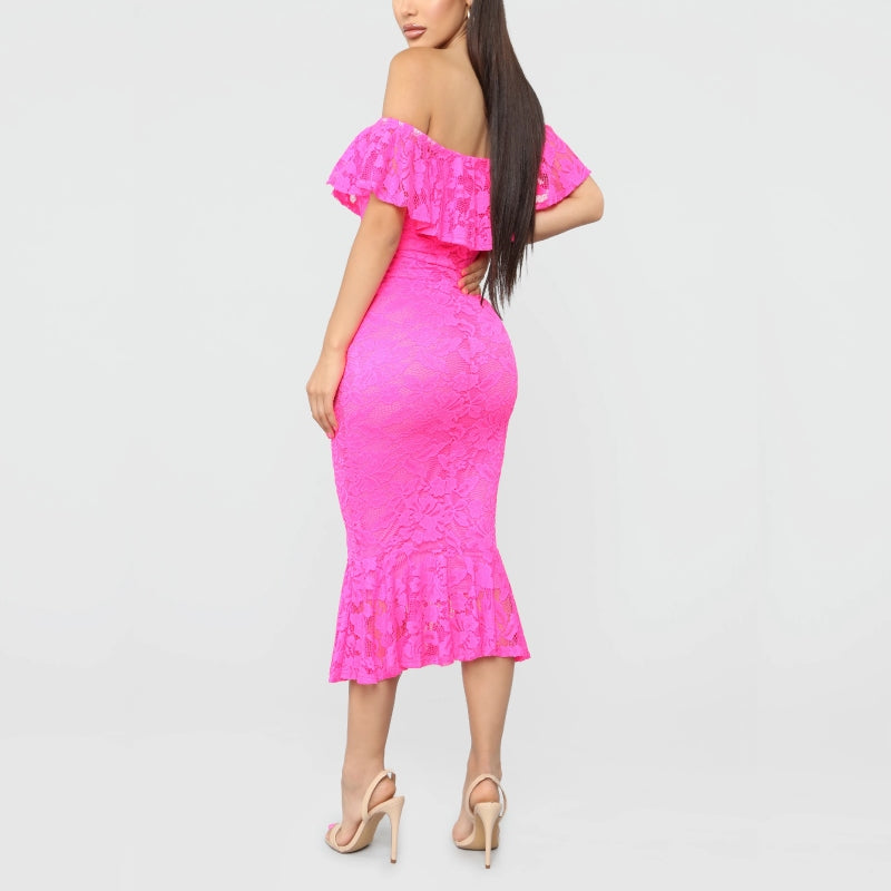 Frivolously Pink Midi Dress