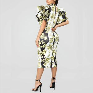 Floral Dreams Midi Dress Multi