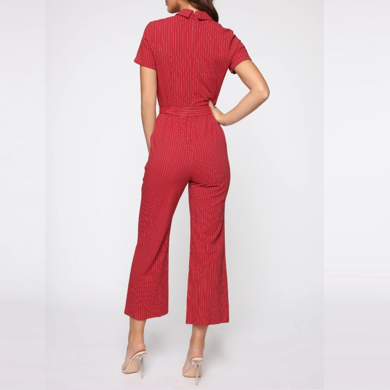 Fiery Red Jumpsuit