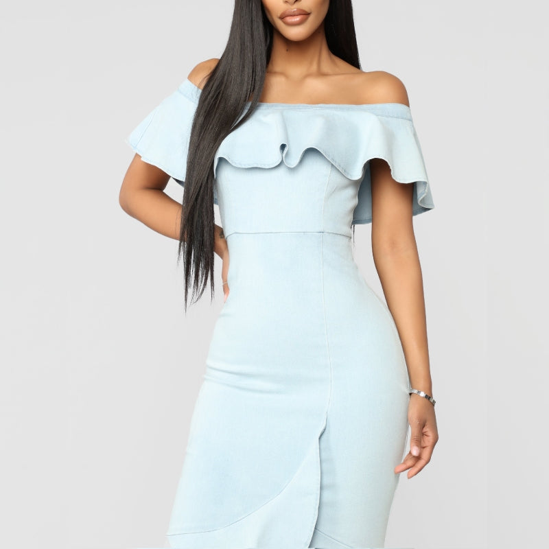 Paint The Sky Blue Dress Denim