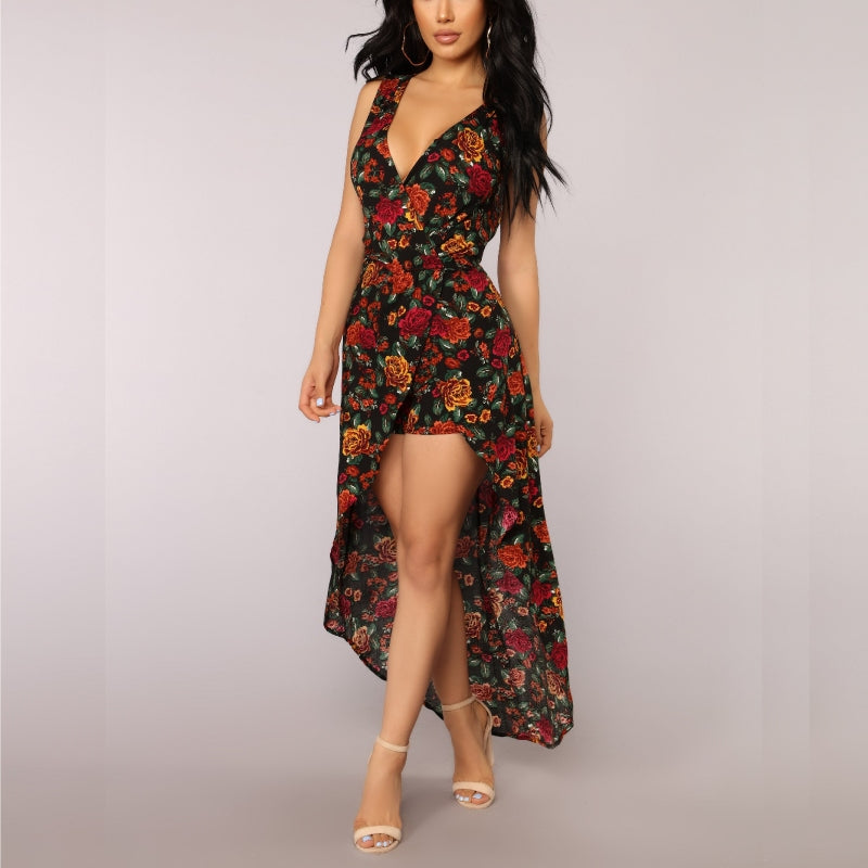 Bunch of Roses Maxi Romper