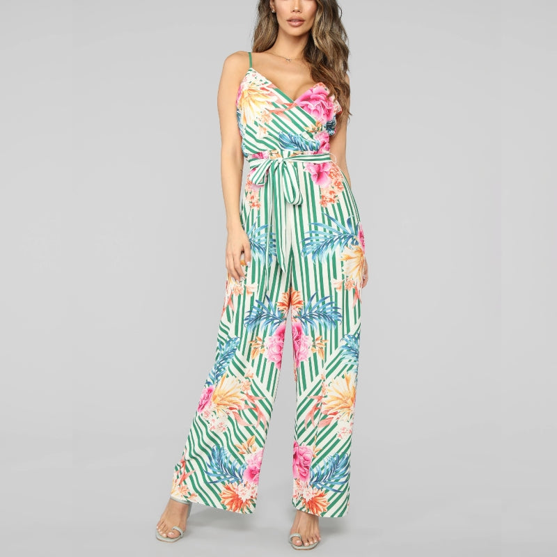 Stripes Floral Jumpsuit