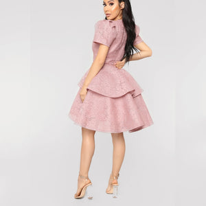 Paisley Pink Layer Dress