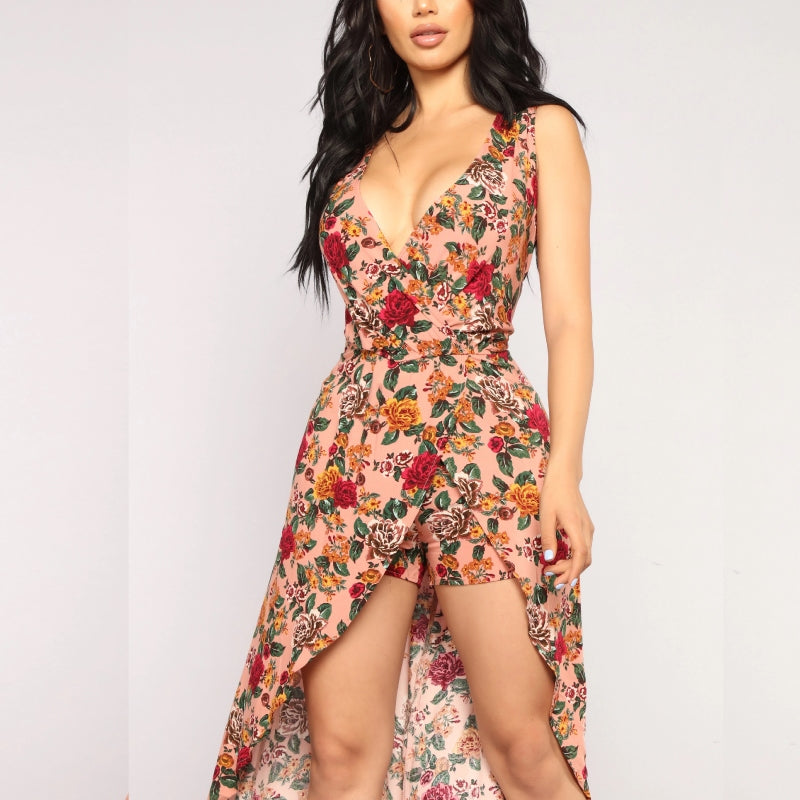 Bunch of Roses Maxi Romper Mauve