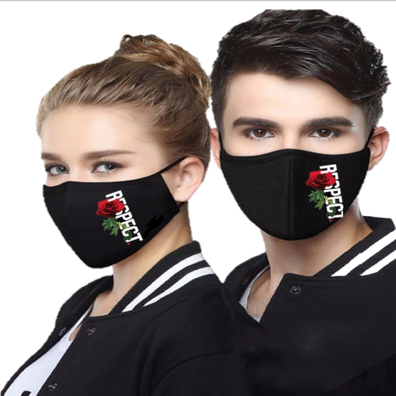 MOC Cotton Mask - Respect - Black