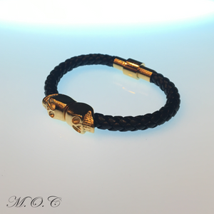 Testa Black Leather Bracelet