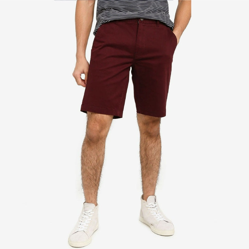 MOC Burgundy Chino Shorts