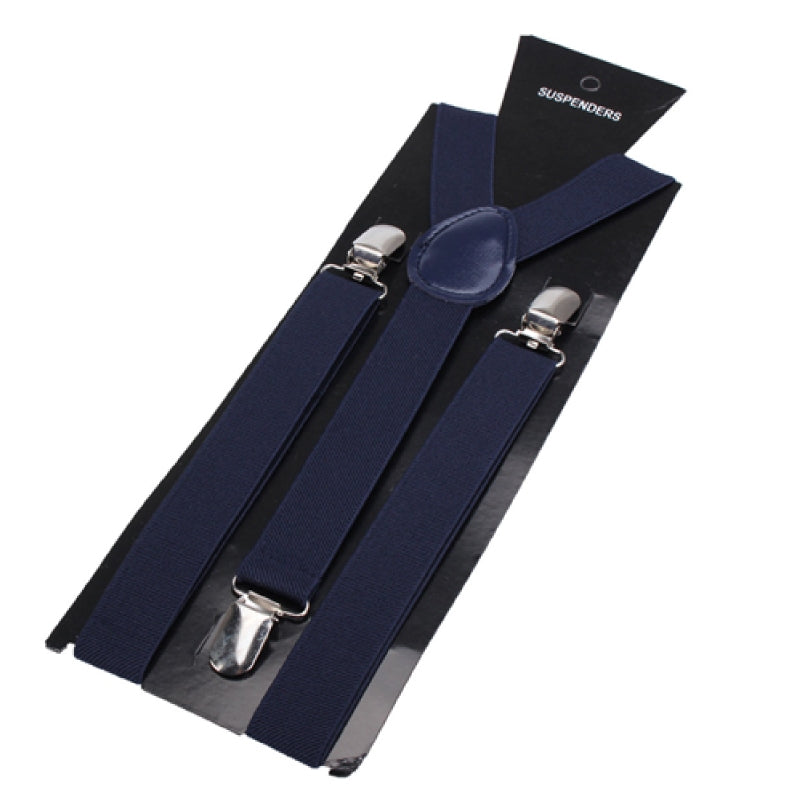 Elastic Y-Shape Braces/ Suspenders Navy