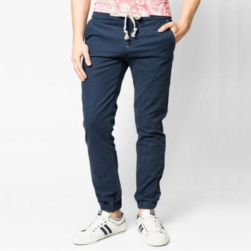 Braid String Joggers Navy Blue