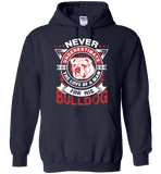 Never Underestimate The Love Of A Man For His Bulldog - Apparel