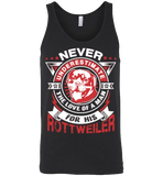 Never Underestimate The Love Of A Man For His Rottweiler - Apparel