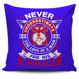 Never Underestimate The Love Of A Man For His Schnauzer Pillow Cover - Pillow Cover
