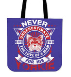 Never Underestimate The Love Of A Man For His Yorkie Tote Bag - Bag