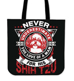 Never Underestimate The Love Of A Man For His Shih Tzu Tote Bag - Bag