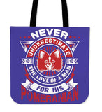 Never Underestimate The Love Of A Man For His Pomeranian Tote Bag - Bag