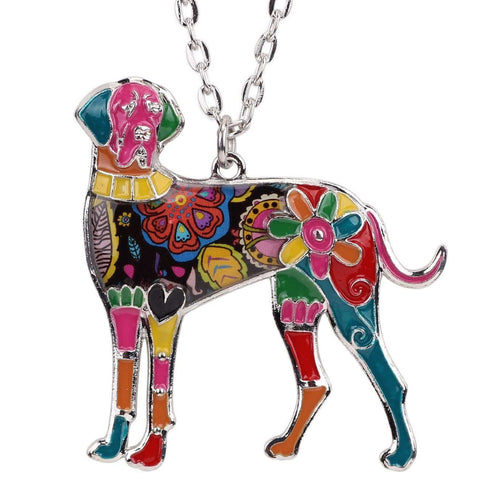 Great Dane Exclusive Colorful Flora Pattern Necklace - Jewelry