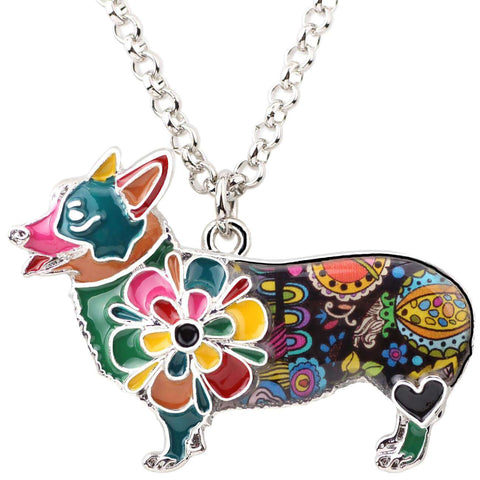 Corgi Exclusive Colorful Flora Pattern Necklace - Jewelry