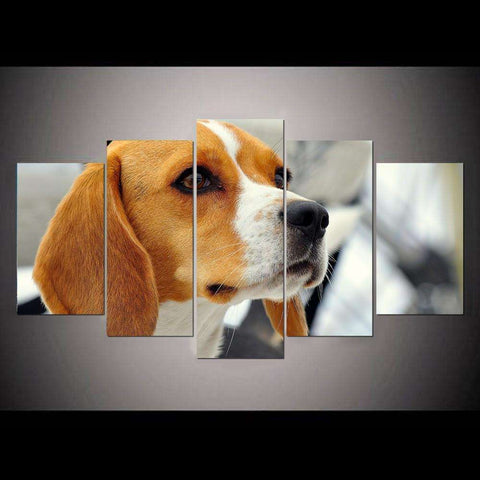 5 Piece Beagle Canvas Print - Canvas Print