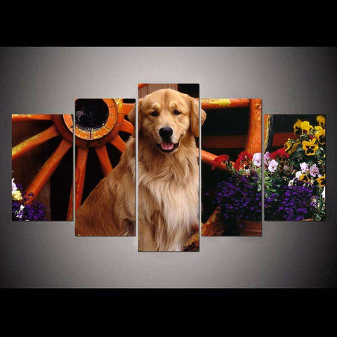5 Piece Golden Retriever Canvas Print - Canvas Print