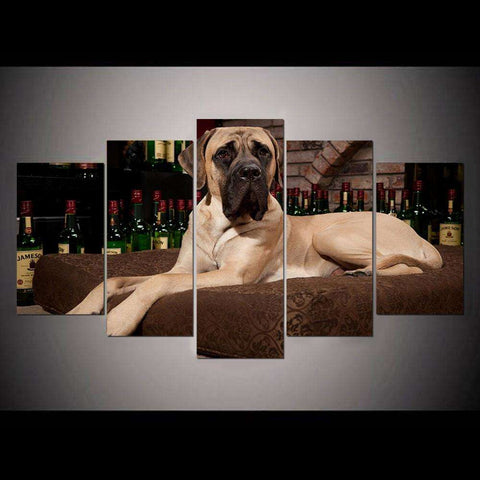 5 Piece Great Dane Canvas Print - Canvas Print