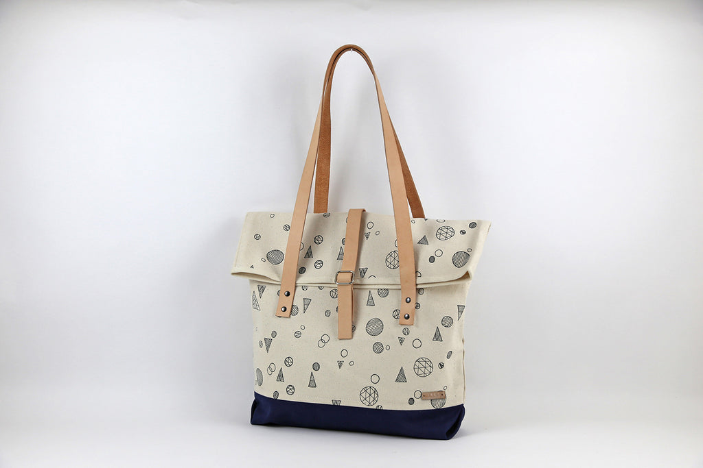 Geo Roll Top Traveller Tote