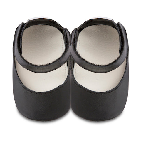 Shooshoos - Chloe Black Baby Leather Shoes