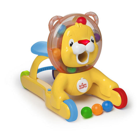 3 in 1 step and ride lion baby bright starts smiling rainbow