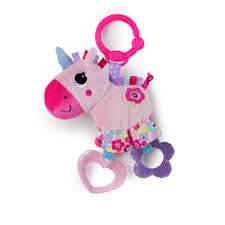 Bright Starts Sparkle and Shine Stuffed Unicorn Toy