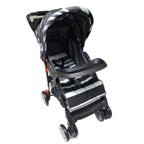 Chelino Nene Polo Baby Stroller Red stripes shop online smiling rainbow grey stripes