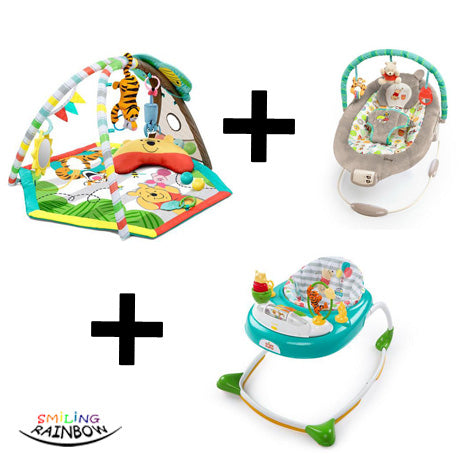 Disney Baby Winnie The Pooh Set | Walker + Play Gym + Bouncer