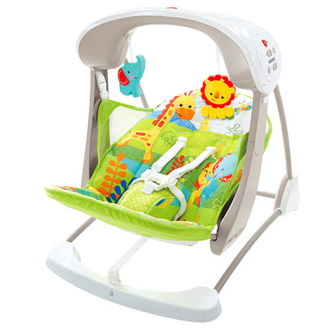 Fisher-Price Rainforest Friends Take-Along Swing & Seat