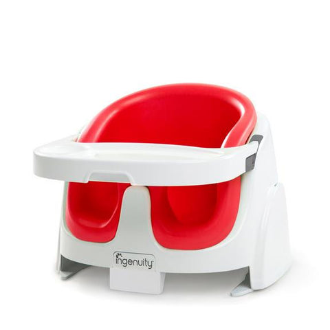 Ingenuity Baby Base 2-in-1 Seat - Poppy Red Baby