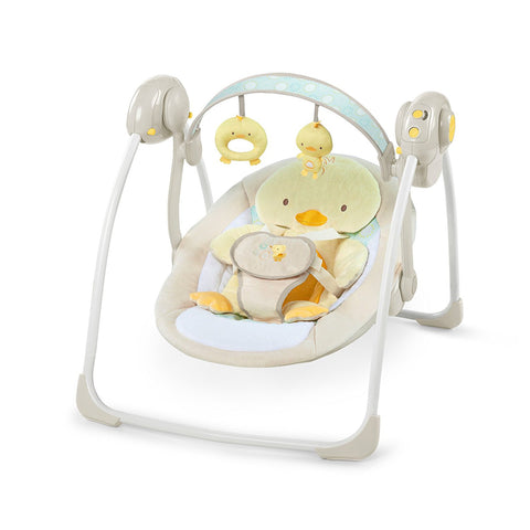 Ingenuity Soothe Delight protbale swing quacks cuddles baby