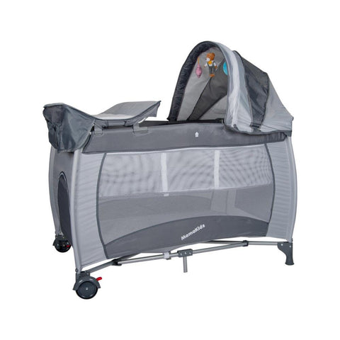 Mamakids Sleepy Baby Camp Cot - Grey
