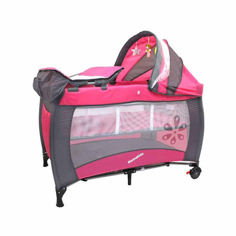 Mamakids Sleepy Baby Camp Cot - Pink