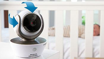 motorola mbp85 connect wi fi video baby monitor camera smiling rainbow on. Black Bedroom Furniture Sets. Home Design Ideas