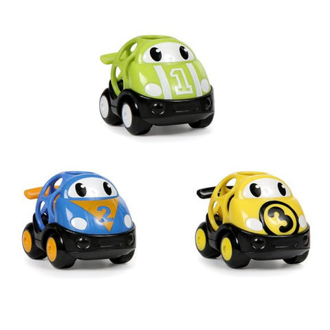 Oball Go Grippers™ Vehicles – Race Car 3 Pack