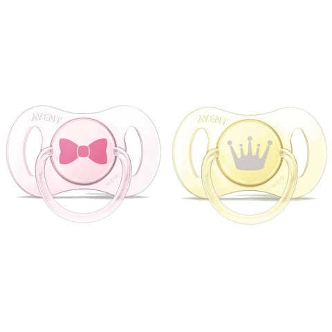 Philips Avent Mini Soothers 0-2M - Girl