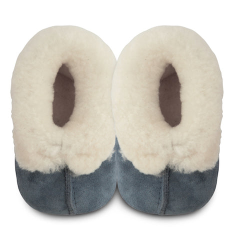 Shooshoos -Alaska Blue Winter Baby Slippers - Genuine Wool