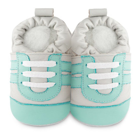 Shooshoos - Aquamarine Leather Baby Sneakers