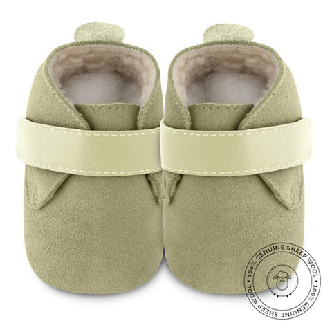 Shooshoos - Green Goblin Winter Baby Shoes - Genuine Wool