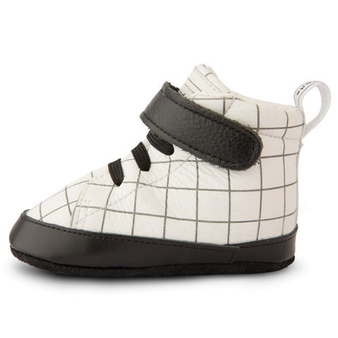 Shooshoos - Area 51 White High Top Soft Leather Baby Shoes