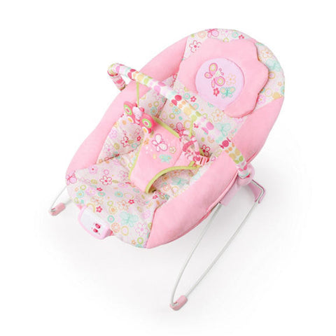 flutter dot baby pink bouncer bright starts smiling rainbow