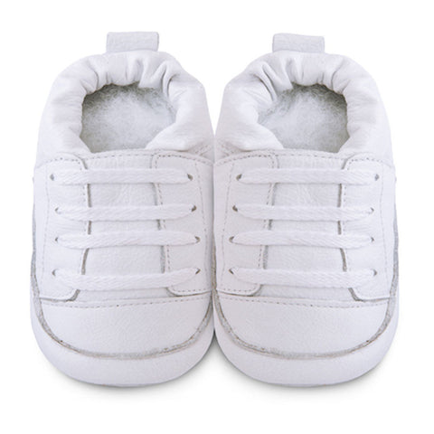 Shooshoos - White Top Baby Sneakers shoes smiling rainbow baby shop