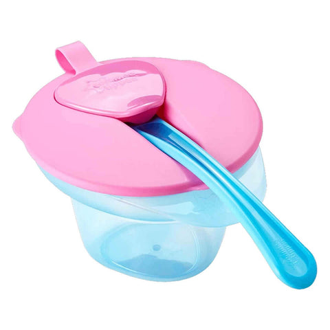 Tommee Tippee Cool & Mash Weaning Bowl - Pink/Blue