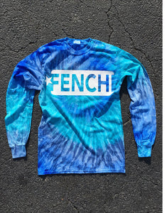 "FENCHI ALL STAR ""LONG"" TIE DYE BLUE JERRY -WITH WHITE PRINT- UNISEX"