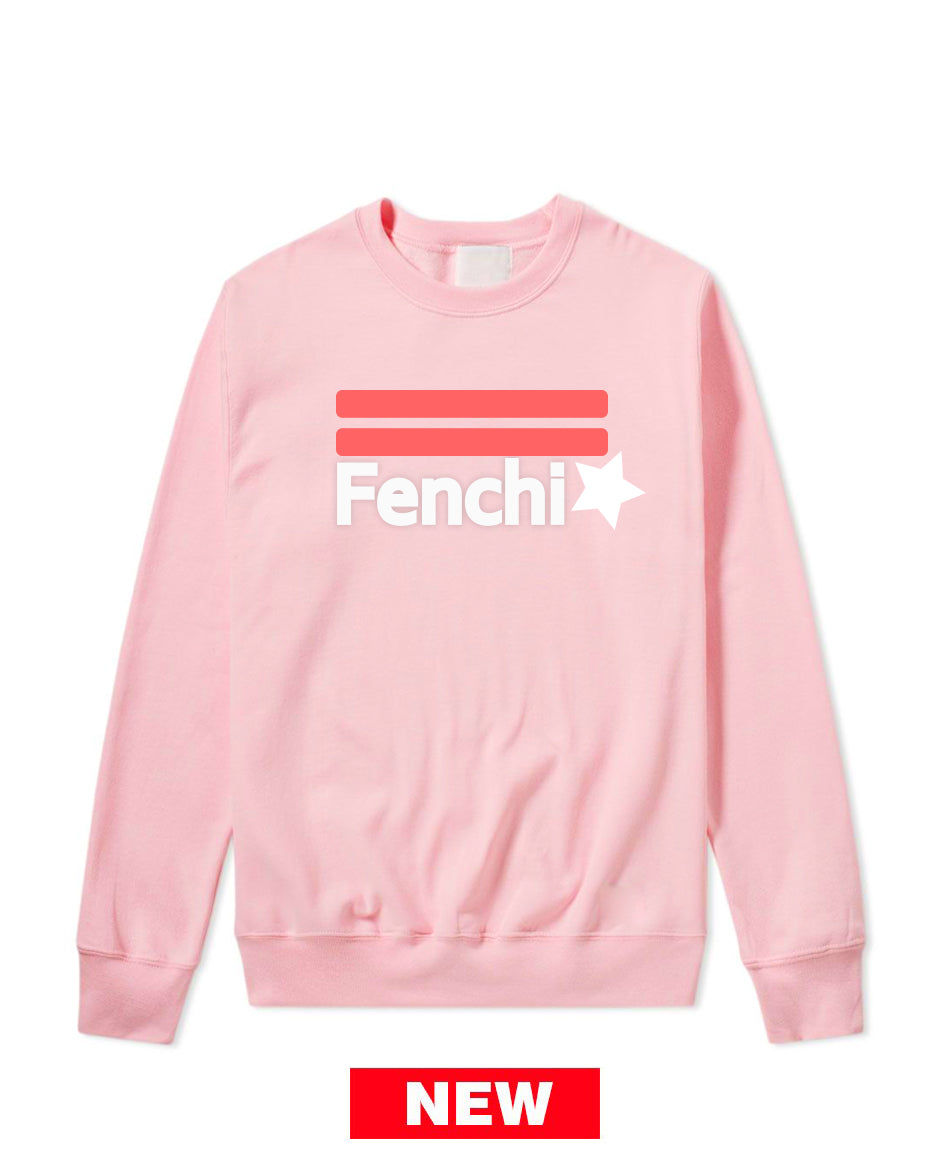 2.0 pink watermelon/white print light pink sweatshirt-unisex
